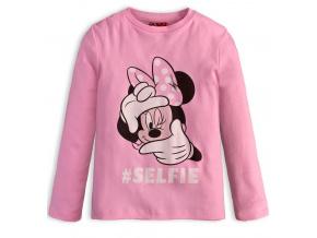 Dívčí triko Minnie SELFIE růžové