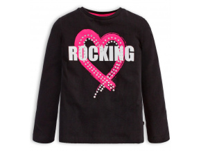 Dívčí tričko Mix n Match ROCKING černé