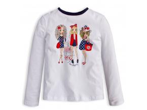 Dívčí tričko LOVE SHOPPING bílé