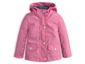 Dívčí nepromokavá bunda KNOT SO BAD DOTS PINK růžová