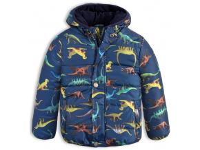 Chlapecká zimní bunda LEMON BERET DINOSAUŘI modrá