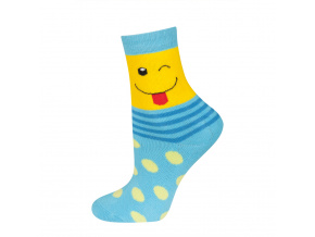 eng pl SOXO Childrens terry socks with happy faces 18934 2