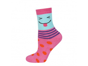 eng pl SOXO Childrens terry socks with happy faces 18934 5