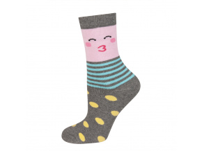eng pl SOXO Childrens terry socks with happy faces 18934 8