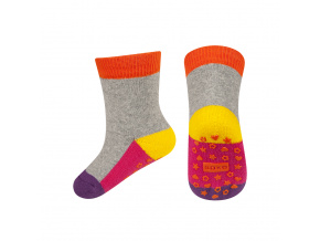 eng pl SOXO terry socks with colorful sole ABS 18926 4