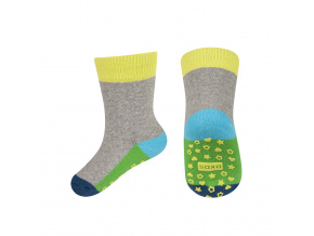 eng pl SOXO terry socks with colorful sole ABS 18926 5