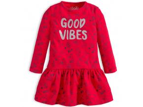 Dívčí šaty LOSAN GOOD VIBES červené