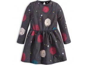 Dívčí šaty KNOT SO BAD SPACE šedé