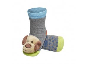 Dětské ponožky s chrastítkem SOXO PEJSEK šedé