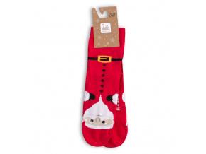Dětské ponožky s vánočním motivem WOLA SANTA CLAUS červené