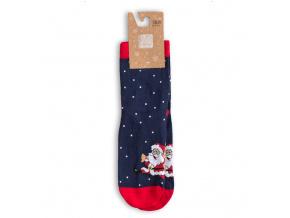 Dětské ponožky s vánočním motivem WOLA SANTA CLAUS modré
