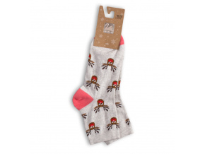 Dámské ponožky s vánočním motivem WOLA SOBI šedý melír
