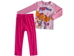 Dívčí pyžamo PAW PATROL PAWFECT světle růžové