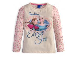 Dívčí tričko DISNEY FROZEN ELEGANT ICE krémové