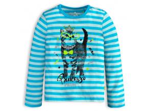 Dívčí tričko LEMON BERET KOČIČKA MEOW modré