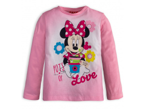 Dívčí tričko DISNEY MINNIE LOVE růžové
