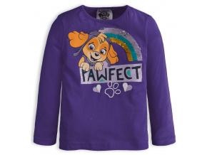 Dívčí tričko PAW PATROL PAWFECT fialové