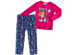 Dívčí pyžamo PAW PATROL READY FOR BED tmavě růžov