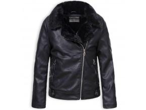 Dívčí kožená bunda GLO STORY černá