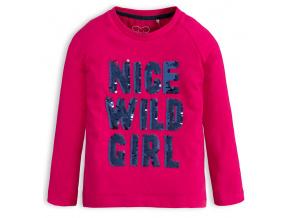 Dívčí tričko s měnícími flitry KNOT SO BAD NICE GIRL růžové
