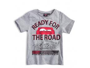Chlapecké tričko DISNEY CARS AUTA ROAD šedé