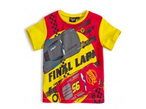 Chlapecké tričko DISNEY CARS AUTA FINAL LAP žluté