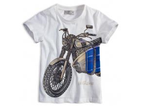 Chlapecké tričko GLO STORY MOTORKA bílé