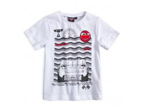 Dětské tričko DISNEY CARS McQUEEN bílé