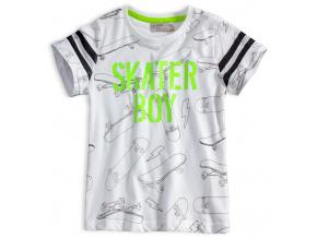Chlapecké tričko GLO STORY SKATER BOY bílé