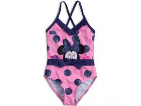 Dívčí plavky vcelku DISNEY MINNIE PUNTÍKY růžové