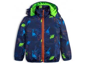 Chlapecká šusťáková bunda LEMON BERET DINOSAUŘI modrá