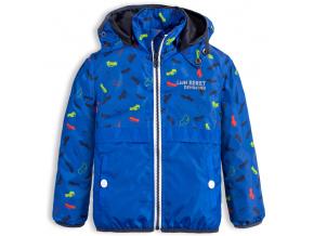 Chlapecká jarní bunda LEMON BERET AUTA modrá