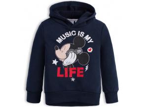 Dívčí mikina DISNEY MINNIE MUSIC modrá