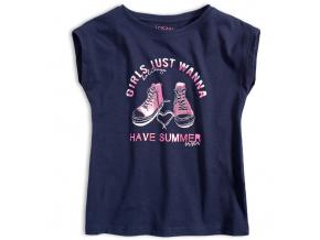 Dívčí tričko LOSAN GIRLS HOLIDAYS modré