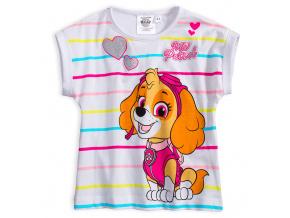 Dívčí tričko PAW PATROL barevné proužky