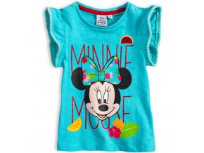Dívčí tričko DISNEY MINNIE FLOWERS tyrkysové
