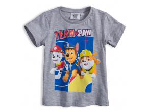 Chlapecké tričko PAW PATROL TEAM PAW šedé