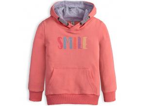 Dívčí mikina VENERE SMILE růžová
