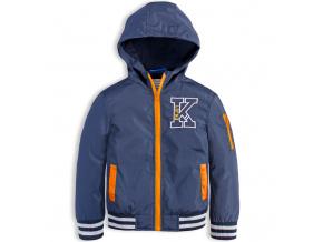 Chlapecká šusťáková bunda KNOT SO BAD ENJOY oranžové detaily