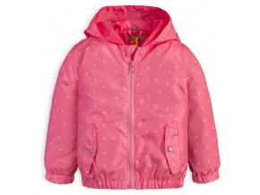 Dívčí jarní bunda LEMON BERET SRDÍČKA růžová