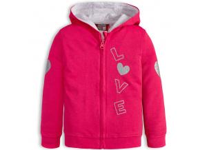 Dívčí mikina LOSAN LOVE růžová