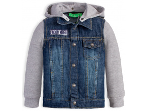 Chlapecká džínová bunda KNOT SO BAD GOOD VIBES modrá