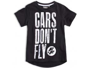 Chlapecké tričko CARS DON´T FLY černé