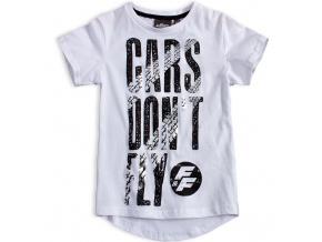 Chlapecké tričko CARS DON´T FLY bílé
