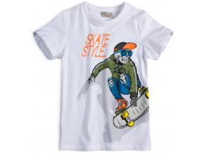 Chlapecké tričko GLO STORY SKATE bílé