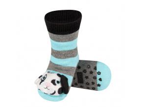 Dětské ponožky s chrastítkem SOXO DALMATIN modré
