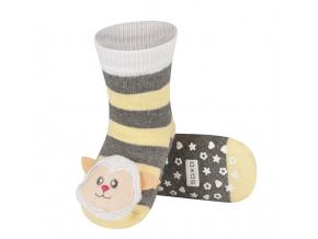 Dětské ponožky s chrastítkem SOXO OVEČKA žluté