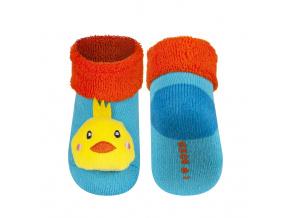 Kojenecké ponožky s chrastítkem SOXO KUŘÁTKO tyrkysové