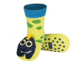Kojenecké ponožky s chrastítkem SOXO MONSTER zelenkavé