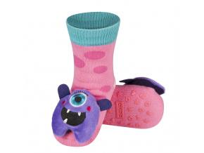 Kojenecké ponožky s chrastítkem SOXO MONSTER růžové